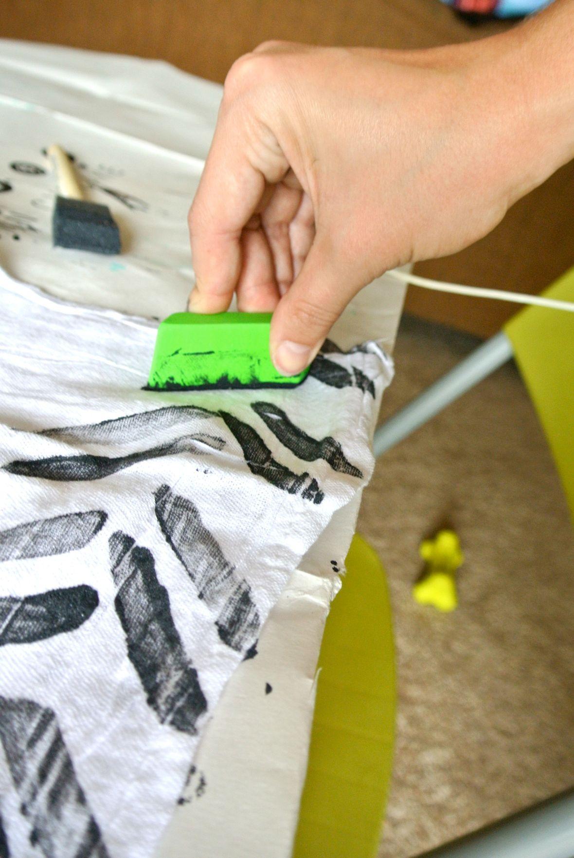 stamped napkins - rubber eraser