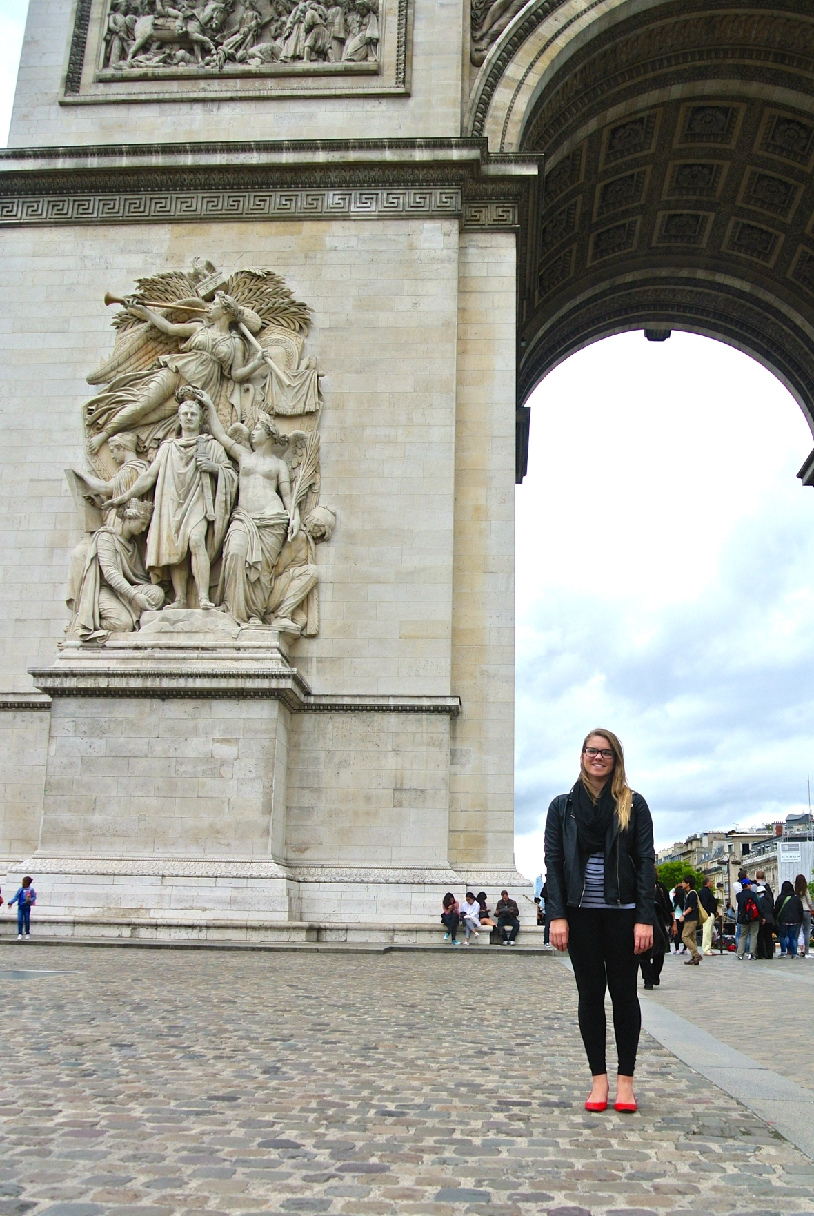 Krista at the Arc de Triomphe - Paris, France. Paris in Two Days via Smiletheresgin.com