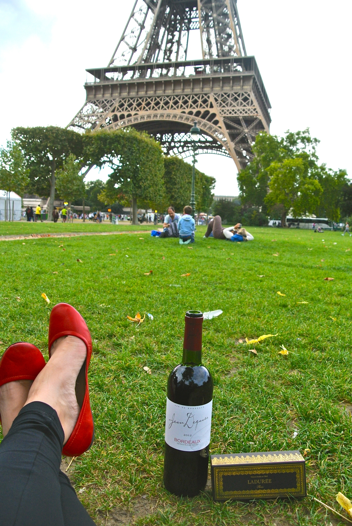 Wine and Macaroons at the Eiffel Tower. Paris, France - Two Days in Paris via Smiletheresgin.com
