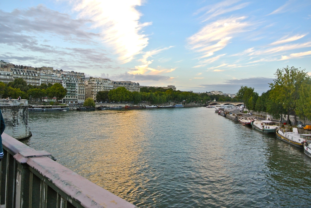sunset over the river - Paris, France. Two Days in Paris via smiletheresgin.com