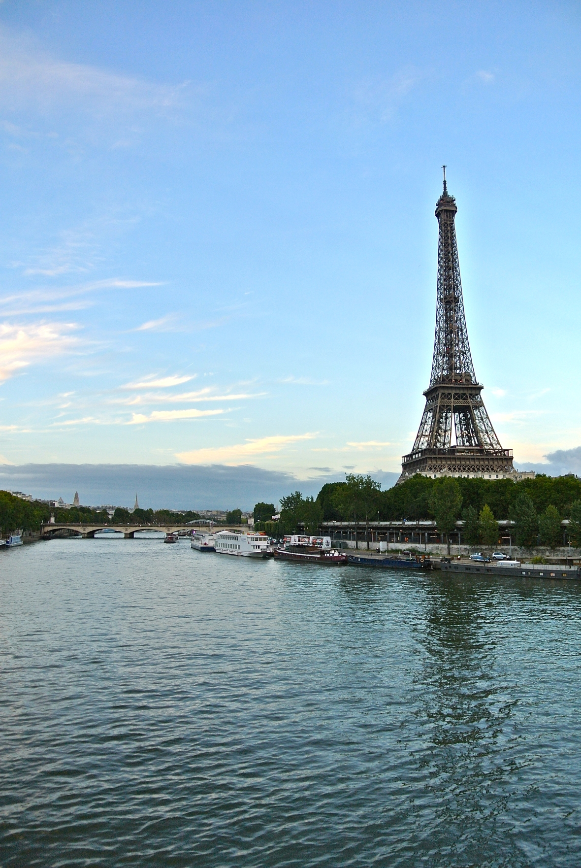 Eiffel Tower from the river - Paris France. Two Days in Paris via smiletheresgin.com