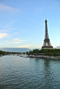 Eiffel Tower from the river - Paris France
