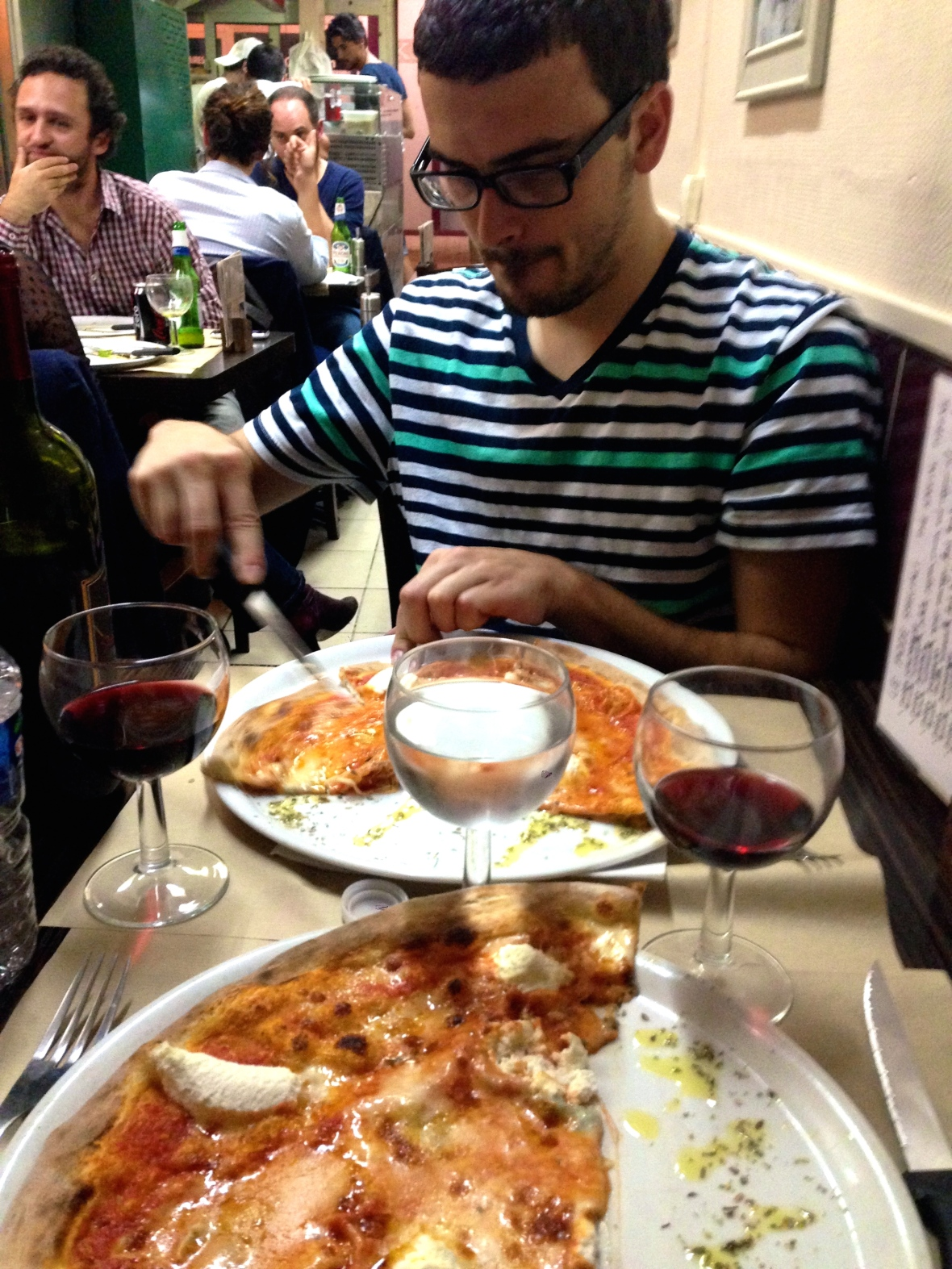 Pizza Rossi - Paris, France Two Days in Paris via Smile There's GIn