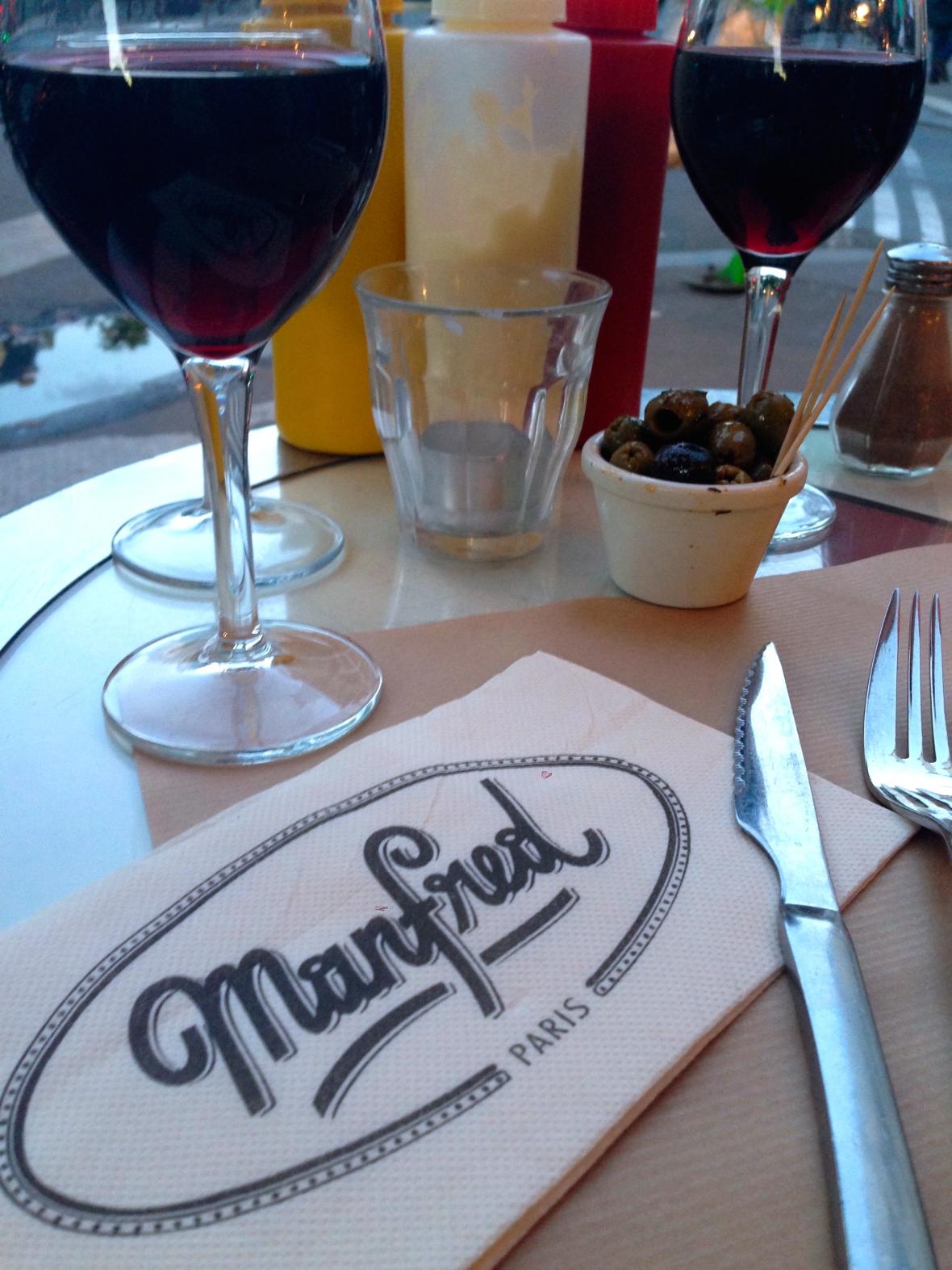 Parisian Cafe Manfred - Paris France