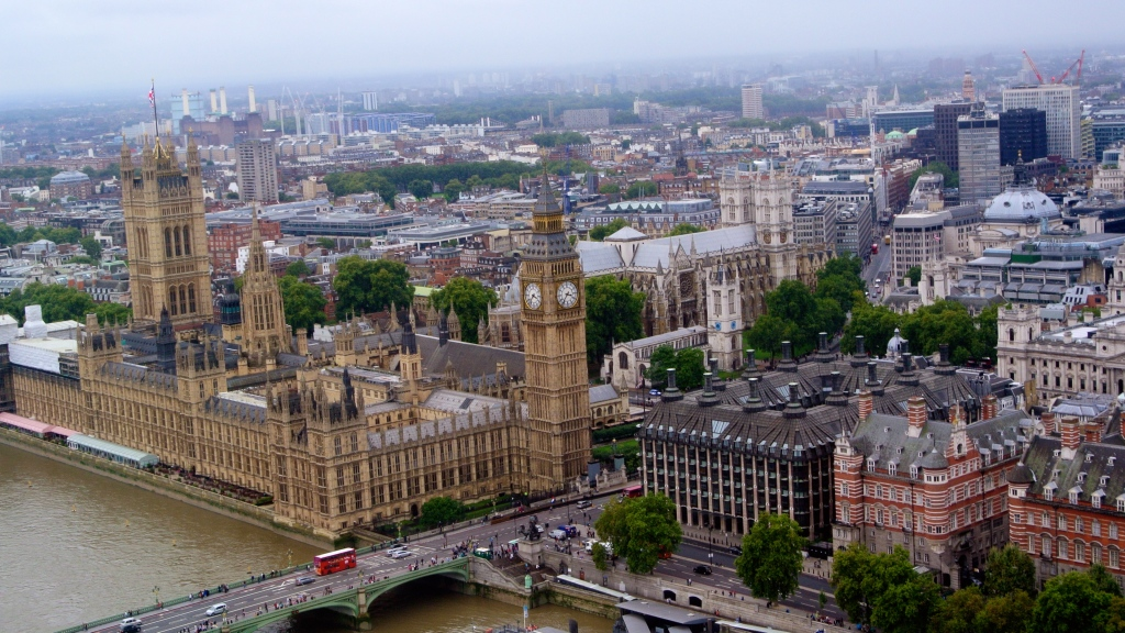 In the London Eye - Parliment Big Ben